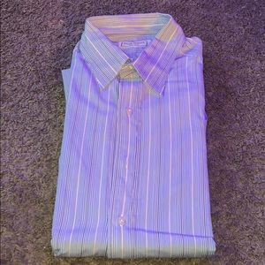 Dress or casual long sleeved stripe shirt
